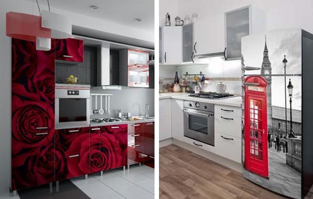 Фото: декорирование мебели и кухонной техники