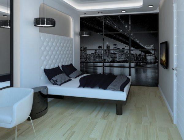 Стиль хай-тек в интерьере спальни