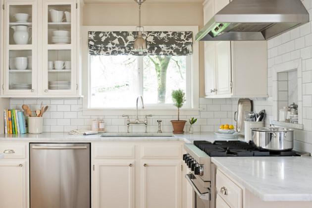 Дизайн кухни белого цвета 2017