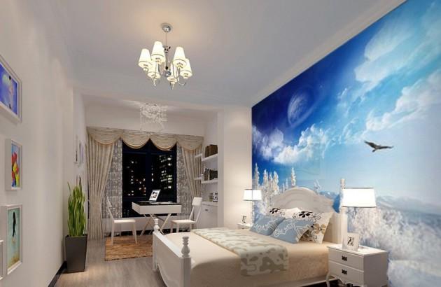 Дизайн-проект спальни с фотообоями