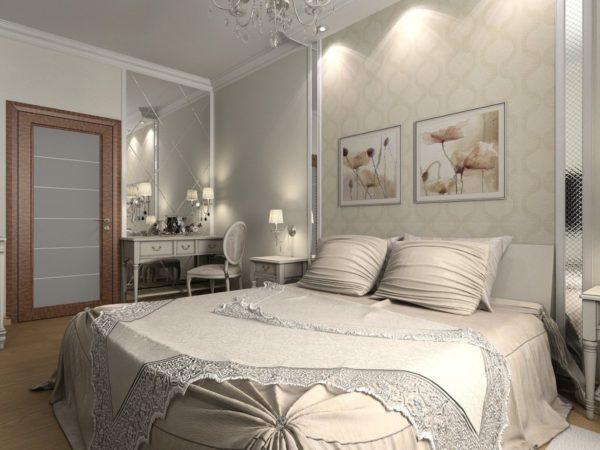 Комната-спальня в светлых тонах