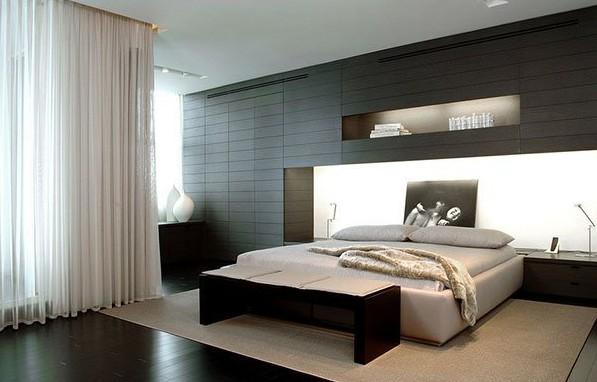 Дизайн-проект спальни в стиле модерн
