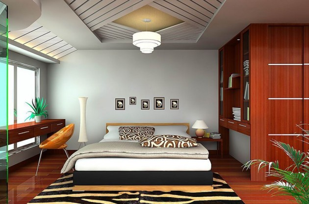 Дизайн-проект спальни со шкафом