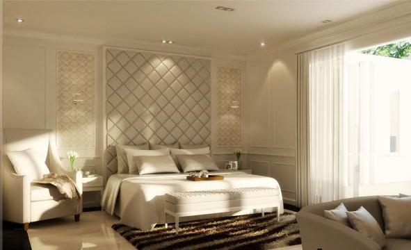 Вариант оформления спальни в светлых тонах