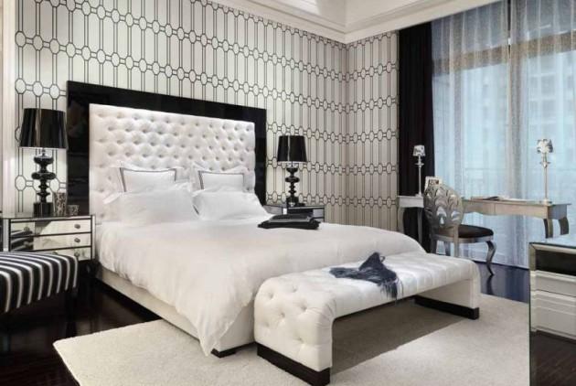 Идея дизайна спальни в светлых тонах