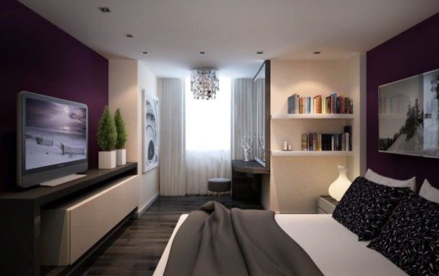 Идея зонирования в спальне