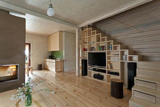 Экостиль в дизайне гостиной 2017 года