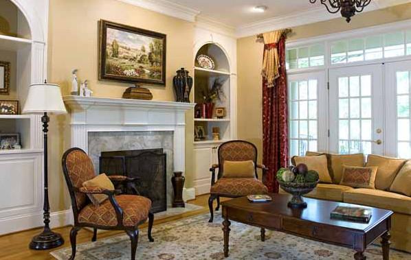 Вариант оформления гостиной в классическом стиле 2017