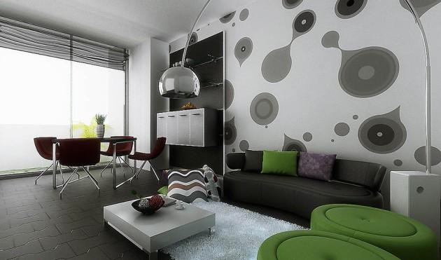 Дизайн-проект гостиной, совмещенной со столовой зоной