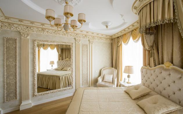 Идея интерьера спальни в современной квартире