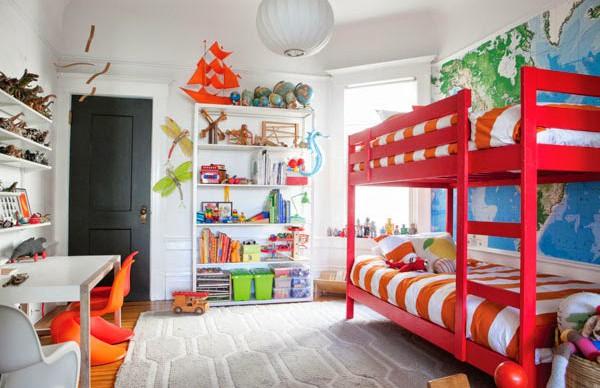 Яркий дизайн детской комнаты 2017