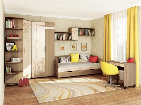 Дизайн светлой и просторной детской комнаты