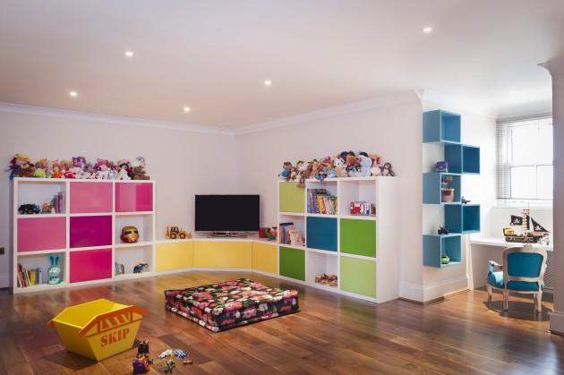Дизайн детской комнаты с окрашенными стенами
