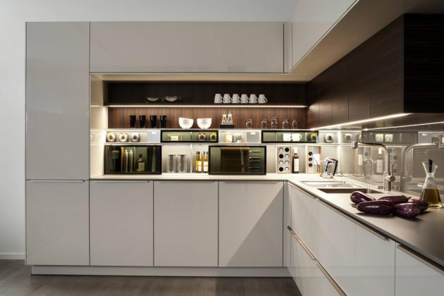 Интерьер кухни в серых тонах 2017