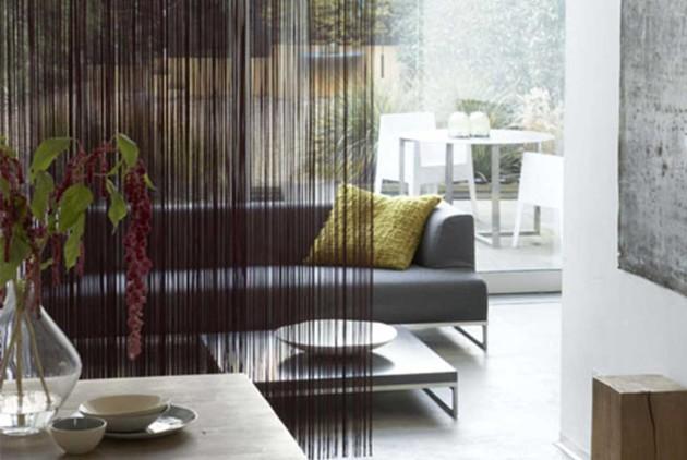 Кисея в дизайне гостиной