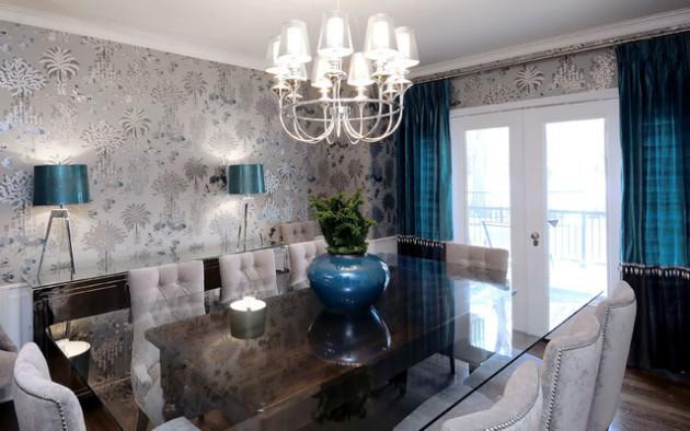 Дизайн обоев 2017 серого цвета для гостиной