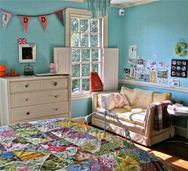 Пример оформления детской комнаты для девочки