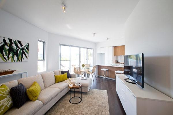 Дизайн гостиной, совмещенной с кухней