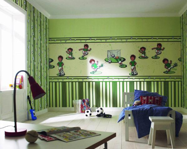 Обои зеленого цвета для детской