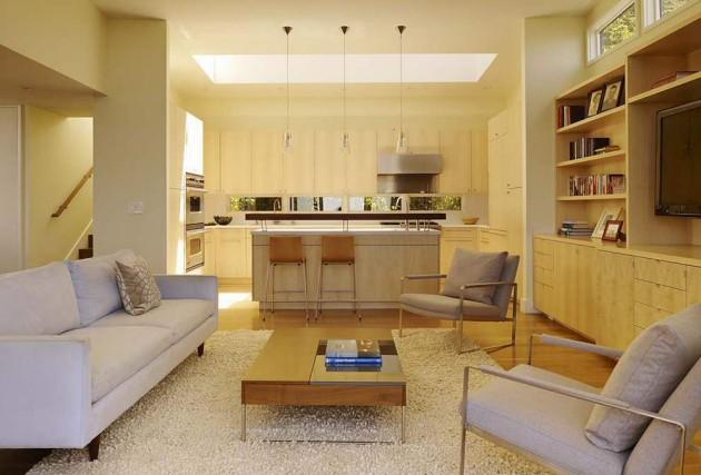 Идея дизайн кухни-гостиной