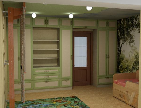 Модульные шкафы в интерьере современной детской комнаты