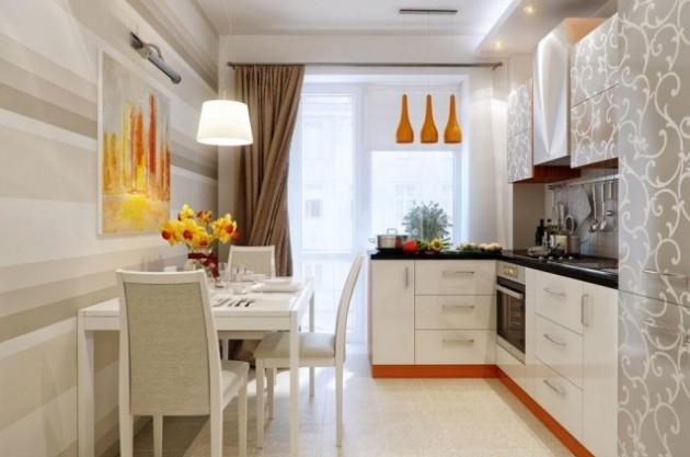 Идеи оформления узкой кухни