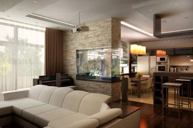 Вариант зонирования пространства в квартире