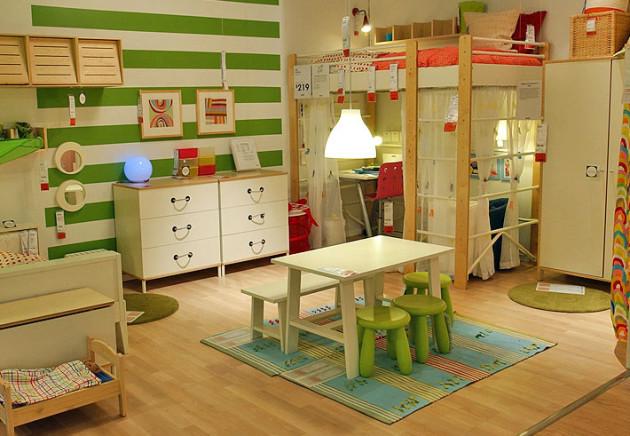 Пример дизайна детской 2017 с сочетанием нескольких цветов