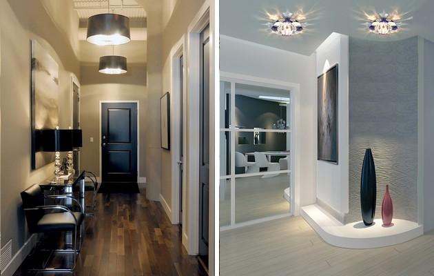 Варианты дизайна ламп и светильников для интерьера прихожей