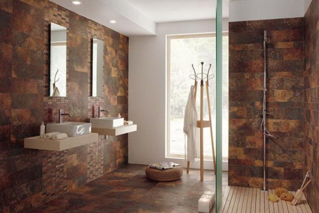 Имитация натурального камня в отделке ванной