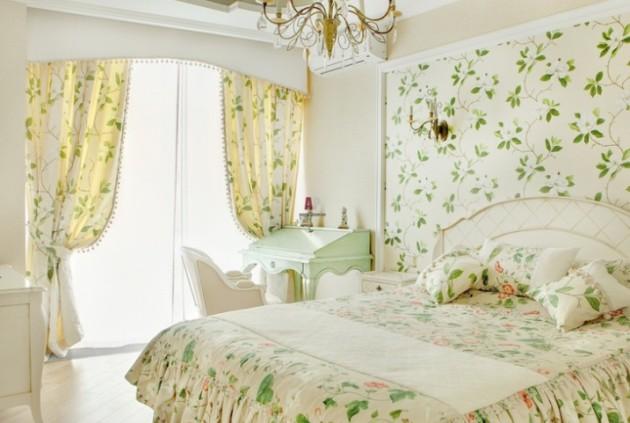 Дизайн штор 2017 в стиле прованс для спальни