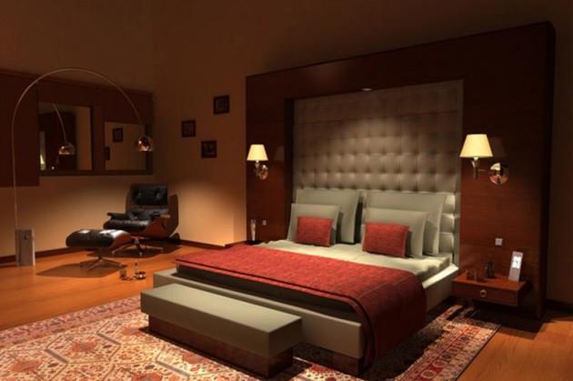 Тёмные тона в дизайне спальни 2017 года