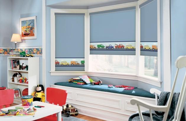 Дизайн рулонных штор для детской