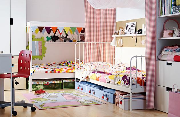 Интерьер комнаты 2017 для двоих детей