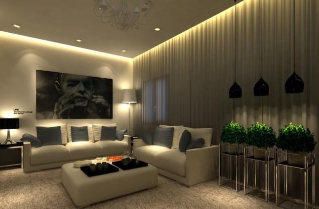 Точечные светильники и подсветка штор