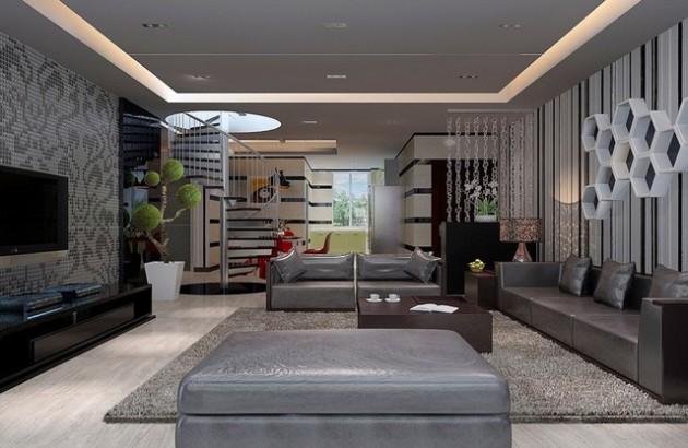 Интерьер гостиной 2017 в гостиной