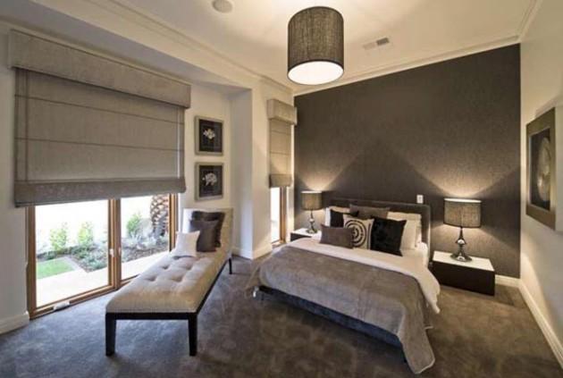 Оформление спальни в серых тонах