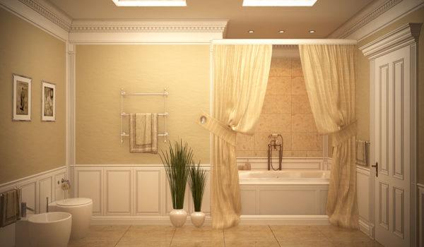 Дизайн ванной комнаты в викторианском стиле