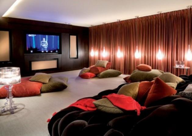 Просторная гостиная-кинотеатр