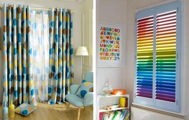 Пример оформления окна в детской комнате