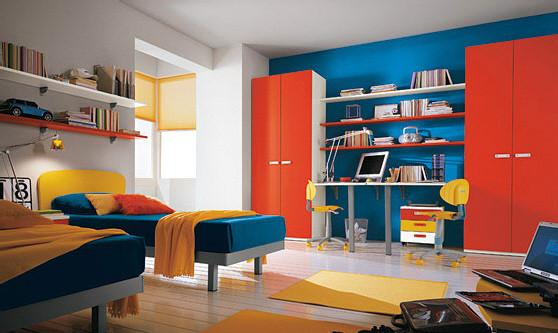 Оригинальная идея оформления детской комнаты для двоих детей