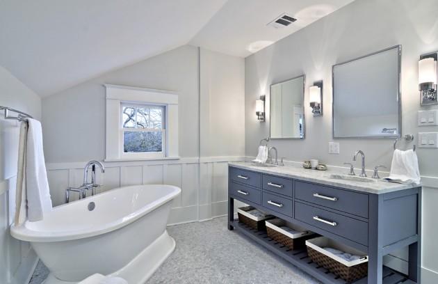 Ванная комната в нежно-серых тонах