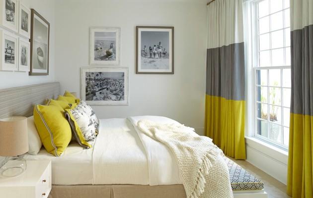Оригинальный дизайн трёхцветных плотных штор для спальни
