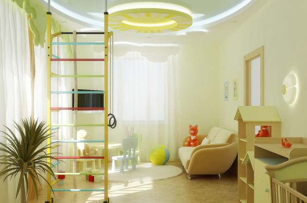 Светлые тона в дизайне детской комнаты