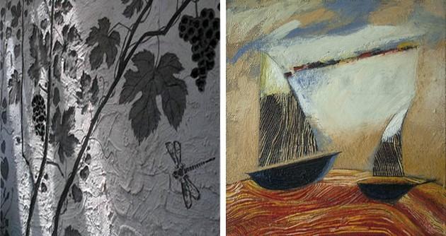 Фото: техники росписи сграффито и энкаустика