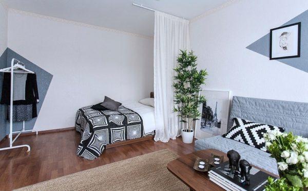 Декор в однокомнатной квартире