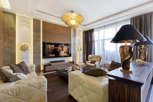 Однокомнатная квартира в стиле арт-деко