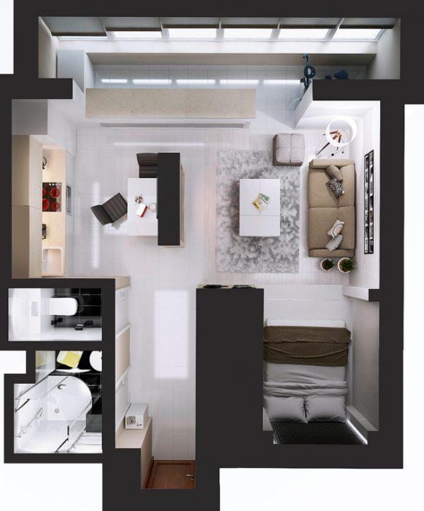 Планировка 35-метровой квартиры