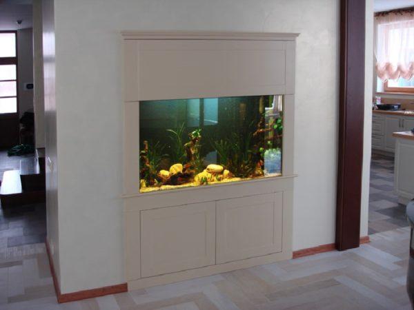 Шкаф-купе с аквариумом