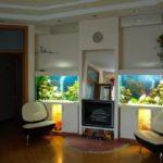 Ниши со встроенными аквариумами